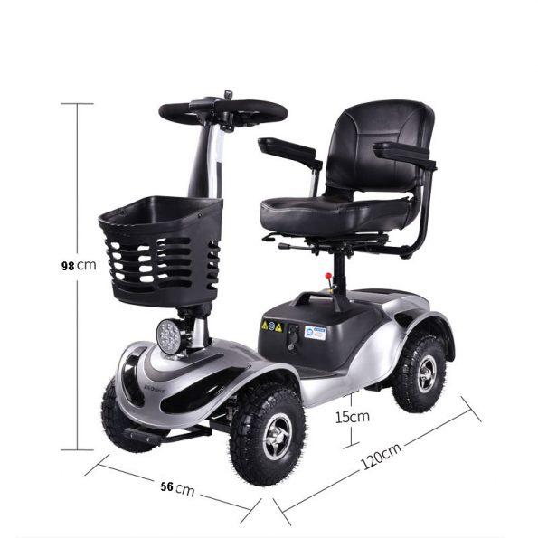 FORCA TBY 3500 MOBILITÄTS SCOOTER 4 RAD 595x595 - Forca MobilityScooter Mobilitätsfahrzeug Sensiorenfahrzeug Seniorenmobil