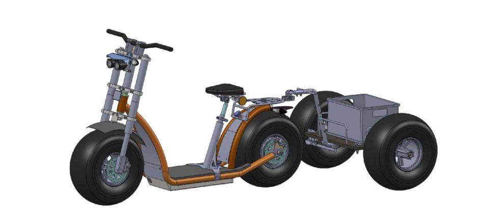 Knumo mit Anhaenger kpl. 600 500 Multibox Achse Dr 960x428 - Hangover-Trailer - die PremiumAnhänger für Forca-Scooter