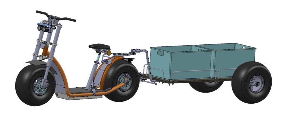 Knumo mit Anhaenger kpl. 600x1400 Multibox Achse Dr.12mm 960x428 - Hangover-Trailer - die PremiumAnhänger für Forca-Scooter